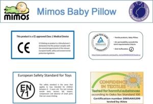 Mimos Lagerungskissen Zertifizierungen